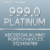Pure Silver Alphabet And Digit Vector
