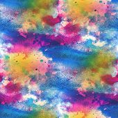 artist blue red watercolor background, seamless