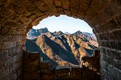 Tunnel In The Great Wall Of China