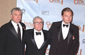 Robert De Niro, Martin Scorsese and Leonardo DiCaprio at the 67th Annual Golden Globe Awards Press Room, Beverly Hilton Hotel, Beverly Hills, CA. 01-17-10