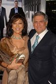 Les Moonves and wife Julie Chen at the