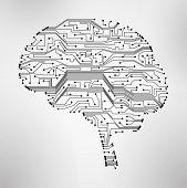 circuit board, form of brain