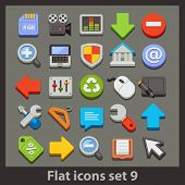vector flat icon-set 9