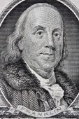 Portait Of Benjamin Franklin From The One Hundred Dollar Bill.