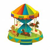 image of funfair  - Beautiful and colorful illustration of funfair elements - JPG