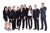 Lineup Of Business Executives Or Partners