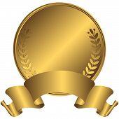 Big gold medal (vector)