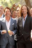 Dave Koz and Kenny G  at the ceremony honoring Dave Koz with a star on the Hollywood Walk of Fame. V