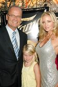Kelsey Grammer with Camille Grammer and their daughter at the Los Angeles Premiere of 'Fame'. Pacifi