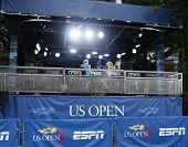 ESPN broadcast station at USTA Billie Jean King National Tennis Center during US Open 2013