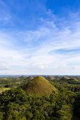 picture of chocolate hills  - Chocolate Hills and blue sky Bohol Island Philippines - JPG