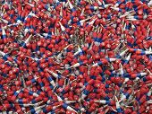Russian Flag Bullets Background