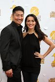 LOS ANGELES - JUN 26:  Brian Tee, Mirelly Taylor-Tee at the 40th Saturn Awards at the The Castaways on June 26, 2014 in Burbank, CA