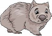 stock photo of wombat  - Cartoon Illustration of Cute Wombat Marsupial Animal - JPG