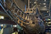 STOCKHOLM, SWEDEN  MAY 17, 2014: The Vasa Museum displays the only almost fully intact 17th century