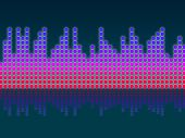 Soundwaves Background Means Making Music And Djing .