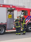 Dutch Firefighters In Action