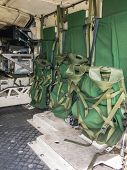 Inside The Rear Of A Dutch Military Vehicle