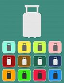 suitcase vector for travel icon