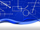 picture of oblong  - Blue Shapes Background Meaning Rectangles Oblongs And Arrows - JPG
