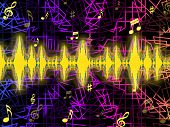 Soundwaves Background Means Djing Or Mixing Music.