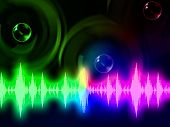 Sound Wave Background Means Music Volume Or Amplifier.