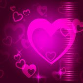 Hearts Background Means Love  Passion And Romanticism.