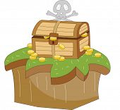 The view of treasure chest
