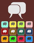 Flat icon of a communication - dialogue