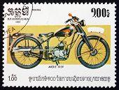Postage Stamp Cambodia 1985 Ardie, 1939, Motorcycle
