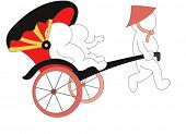 picture of rickshaw  - The view of rickshaw - JPG