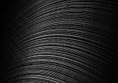 Black Vinyl Background Texture With Shallow Depth Of Field