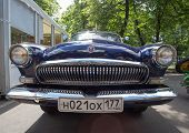 The GAZ-21 Volga car on show of collection Retrofest cars