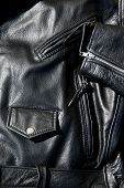Vintage Black Leather Motorcycle Jacket