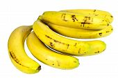 Bunch Of Ripe Yellow Bananas Ready For Eating