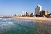 beautiful beachfront of Durban, South Africa