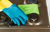 Cleaning Accessories On Top Of Stove Top Range