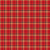 The image of the Scottish fabric of red color