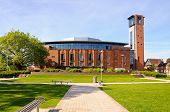 picture of avon  - Front view of the Royal Shakespeare Theatre Stratford - JPG