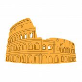 Colosseum isolated on white.