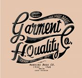 vintage typography for apparel