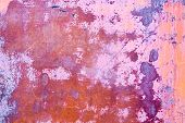 Rusty Vintage Orange Purple Metallic Background