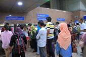Ticket machine queue KL Central Station Kuala Lumpur