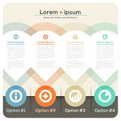 Four Columns Abstract Design Layout
