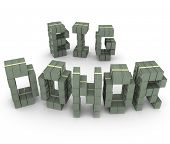picture of patron  - Big Donor words money stacks financial supporter - JPG