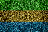 Gabon Flag Color Grass Texture Background