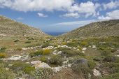 Landscape in the northern part of Karpathos island, Greece