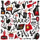 jazz instruments - doodles set