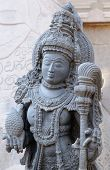 stock photo of karnataka  - Detail on the wall Chennakesava Temple in the town Hassan in the Karnataka state India - JPG