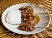 Grill Pork And Sticky Rice